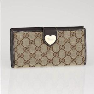 Gucci Logo Canvas Wallet